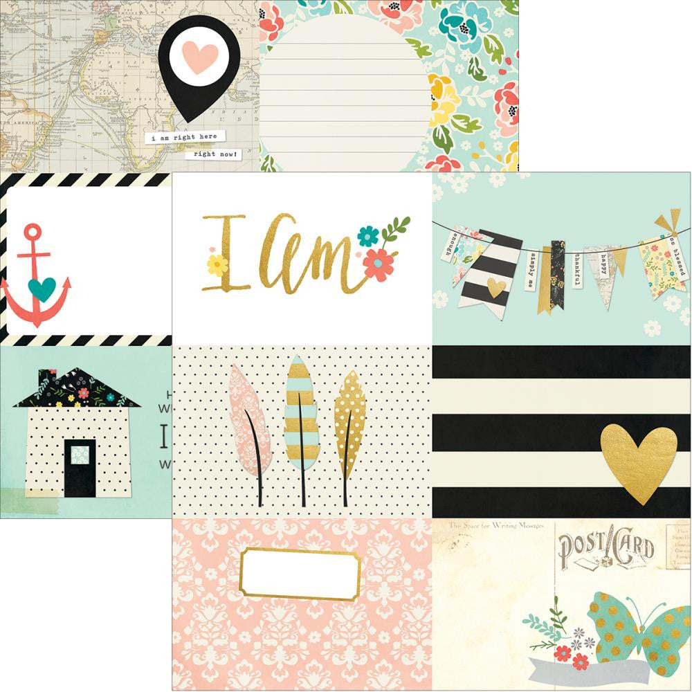 Simple Stories I am 4 x 6 Horizontal Journalling Cards - Scrap Of Your Life