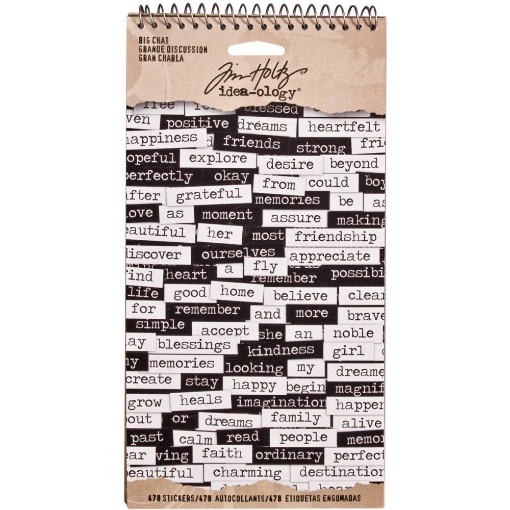 Tim Holtz Ideaology Big Chat Stickers - Scrap Of Your Life