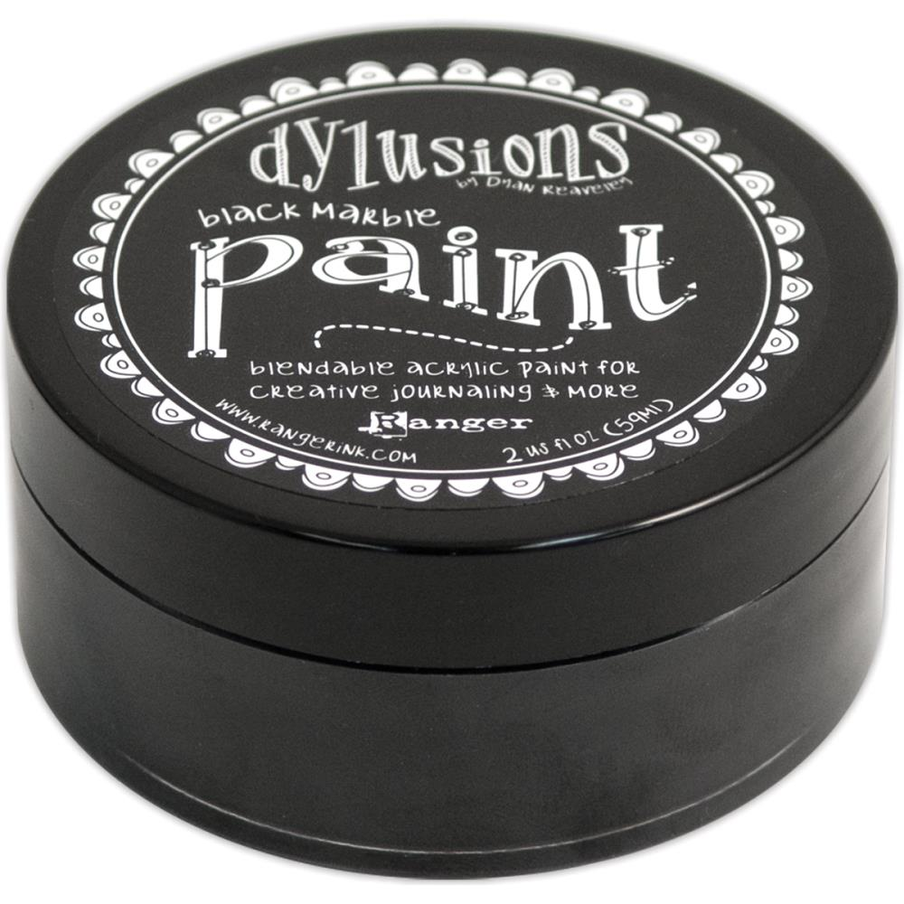 Dylusions Blendable Acrylic Paint Black Marble - Scrap Of Your Life