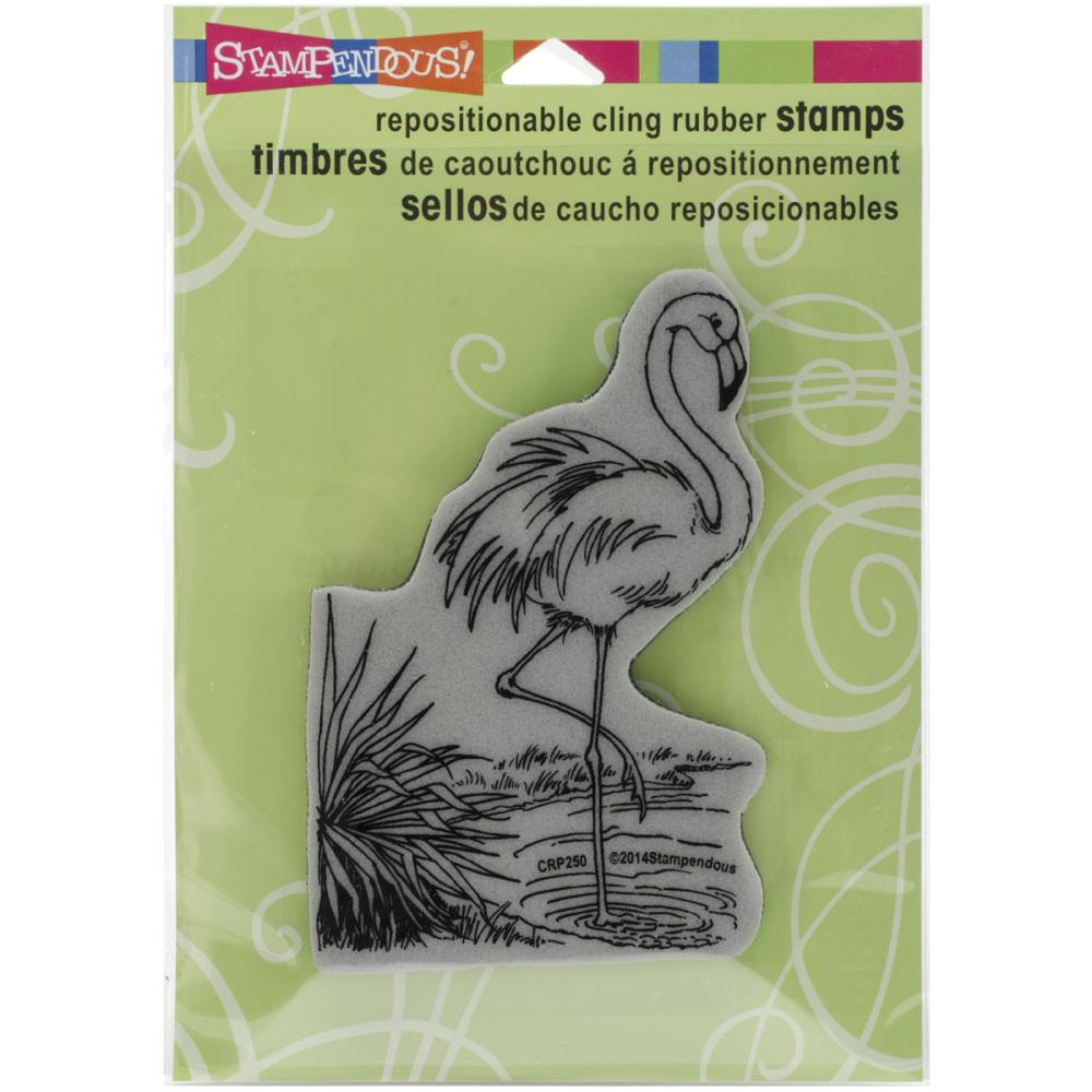 Stampendous Flamingo Rubber STamp - Scrap Of Your Life