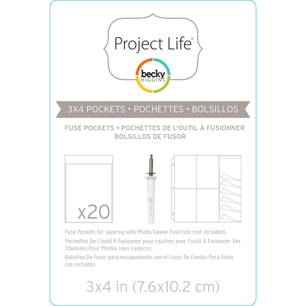 Project Life Photo Fuse Sleeves 20/Pkg - Scrap Of Your Life