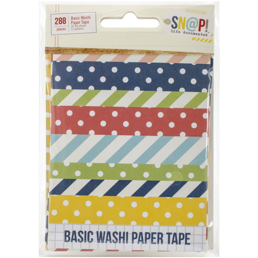 Simple Stories SN@P! Basic Washi Paper Tape - Scrap Of Your Life