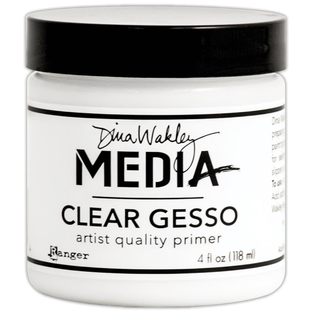 Dina Wakley Media  Clear Gesso - Scrap Of Your Life