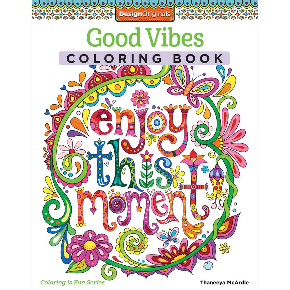 Desing Original Good Vibes Colouring Book