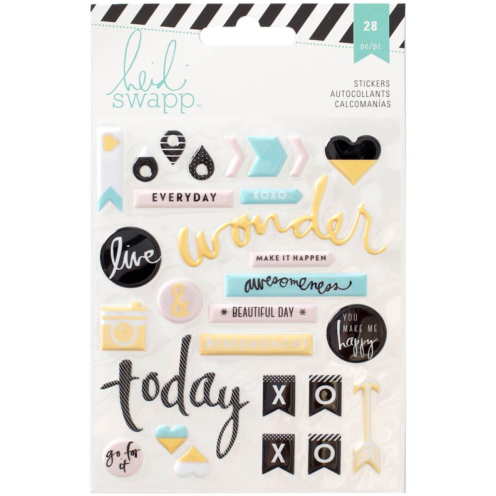 Heidi Swapp Memory Planner Puffy Stickers Words and Icons