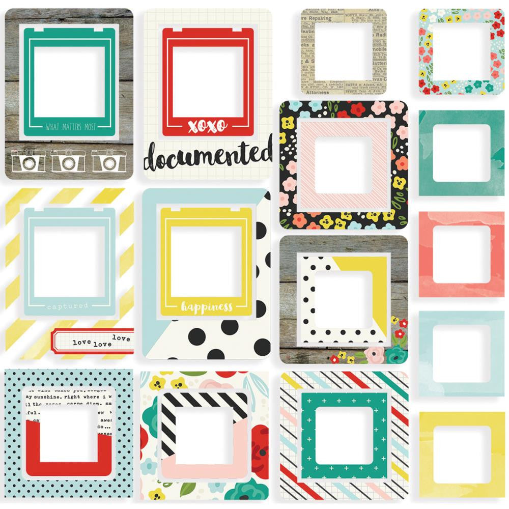 Simple Stories Life in Colour Chipboard Frames
