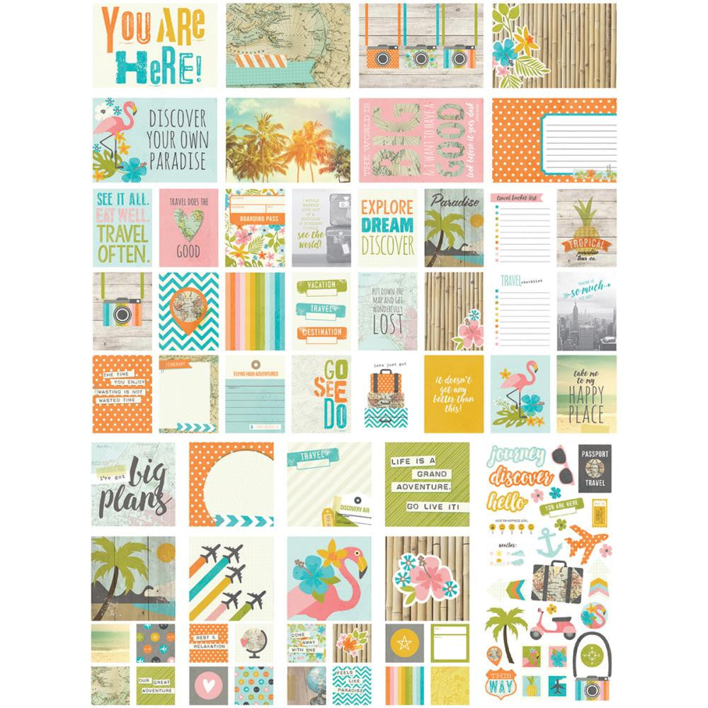 Simple Stories You Are Here SN@P Card Pack - Scrap Of Your Life