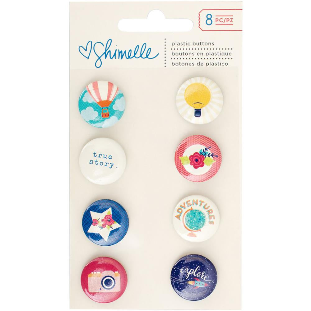 American Crafts Shimelle Starshine Flair Plastic Buttons