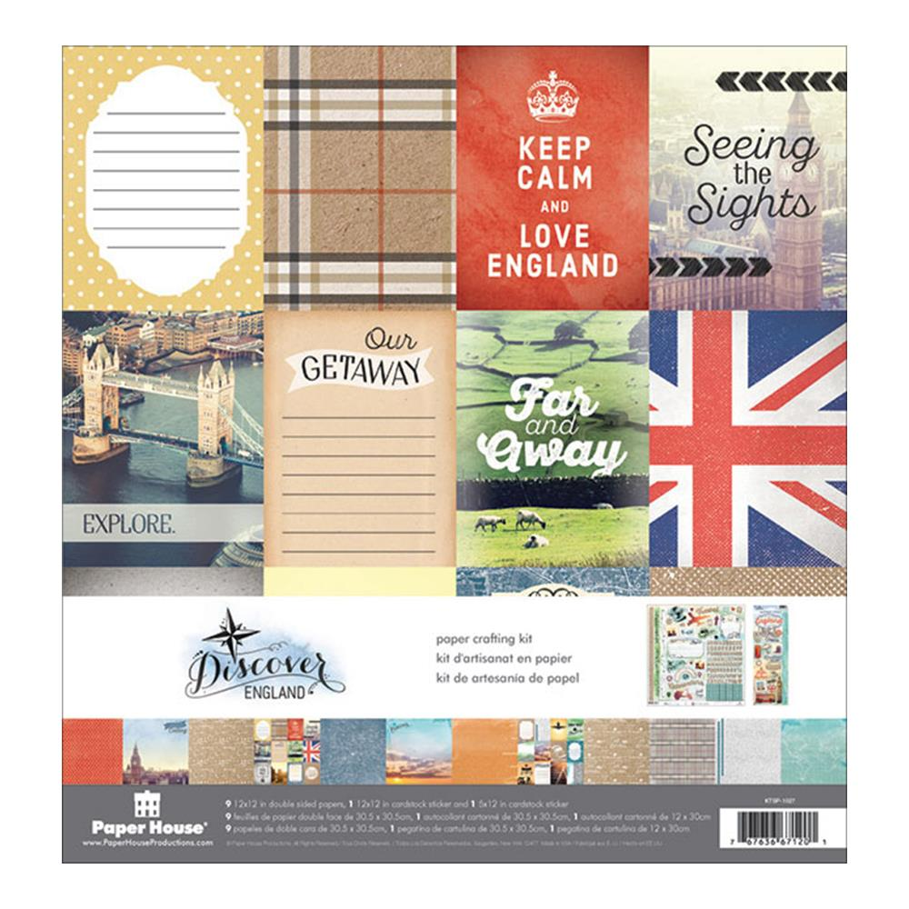 Paper House 12 x 12 Collection Kit England - Scrap Of Your Life