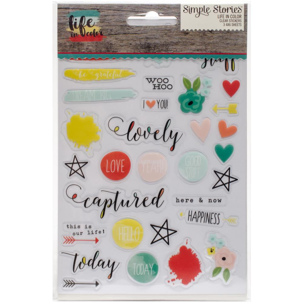 Simple Stories Life in Colour Clear Stickers