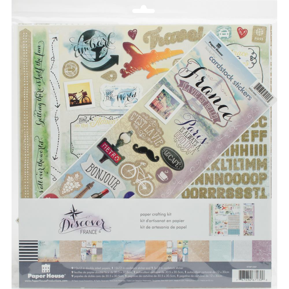 "Paper House Paper Crafting Kit 12""X12"" France"