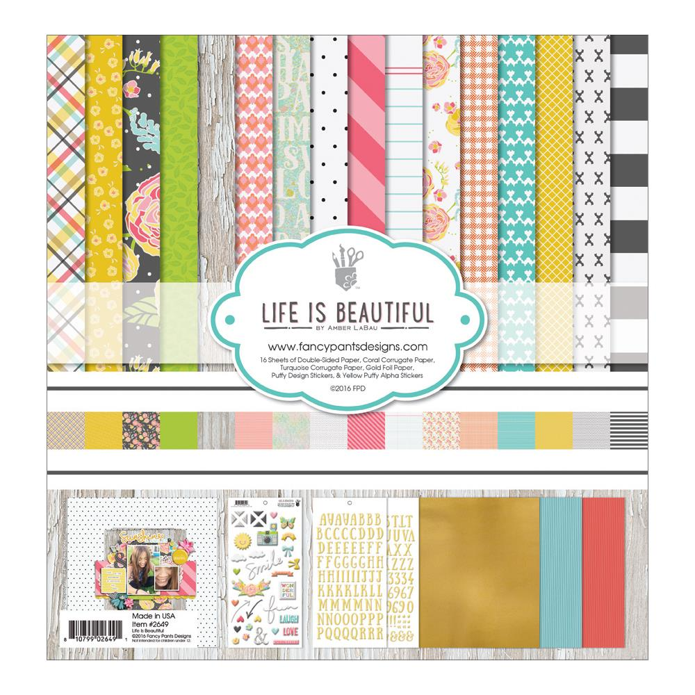 Fancy Pants 12 x 12 Paper Pad Life is Beautiful