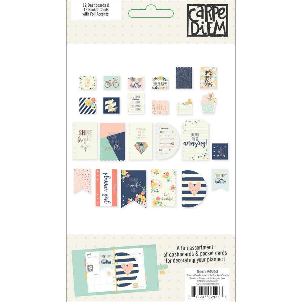 Simple Stories Carpe Diem Posh Dashboard and Pocket Cards