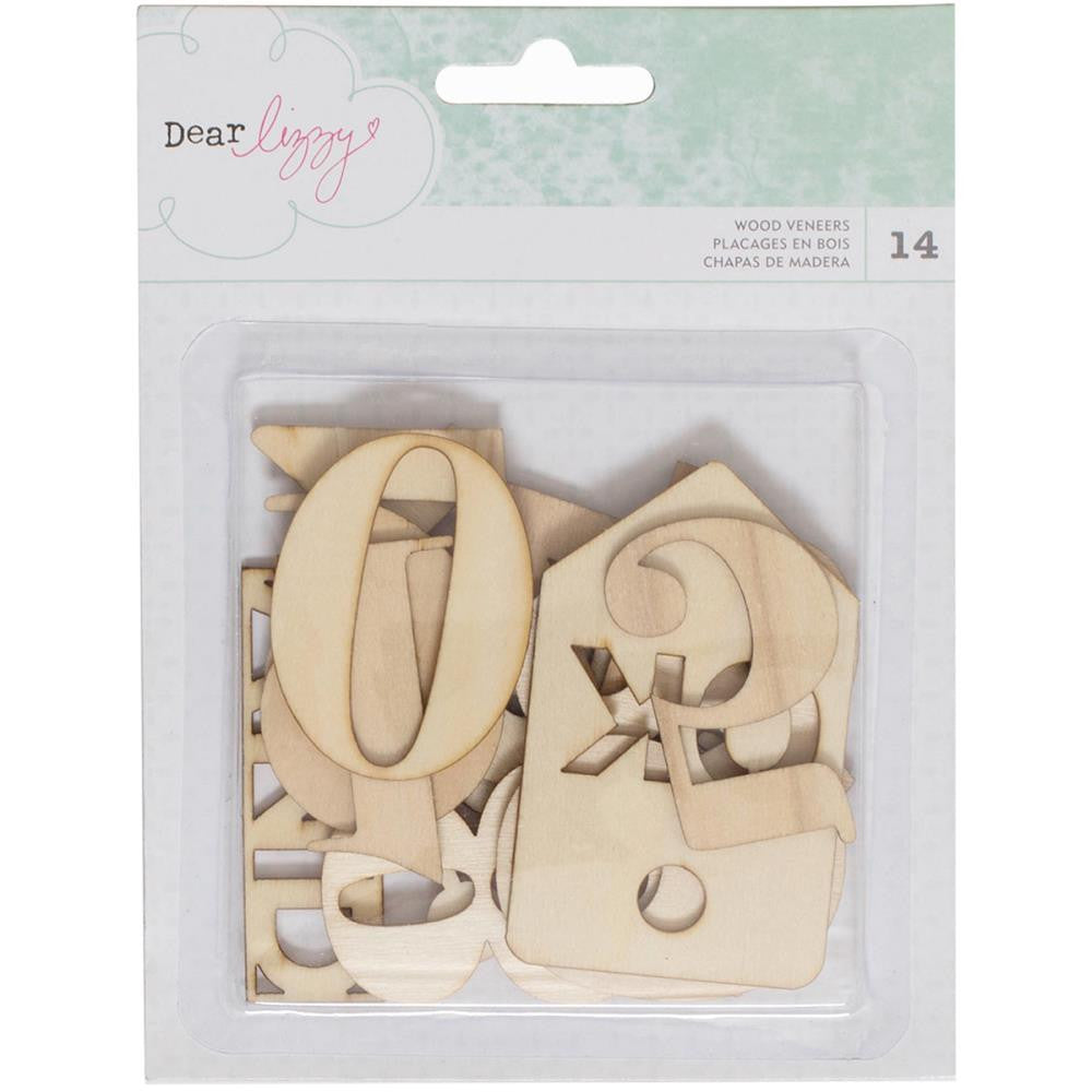 American Crafts Dear Lizzy Wood Veneer Tags