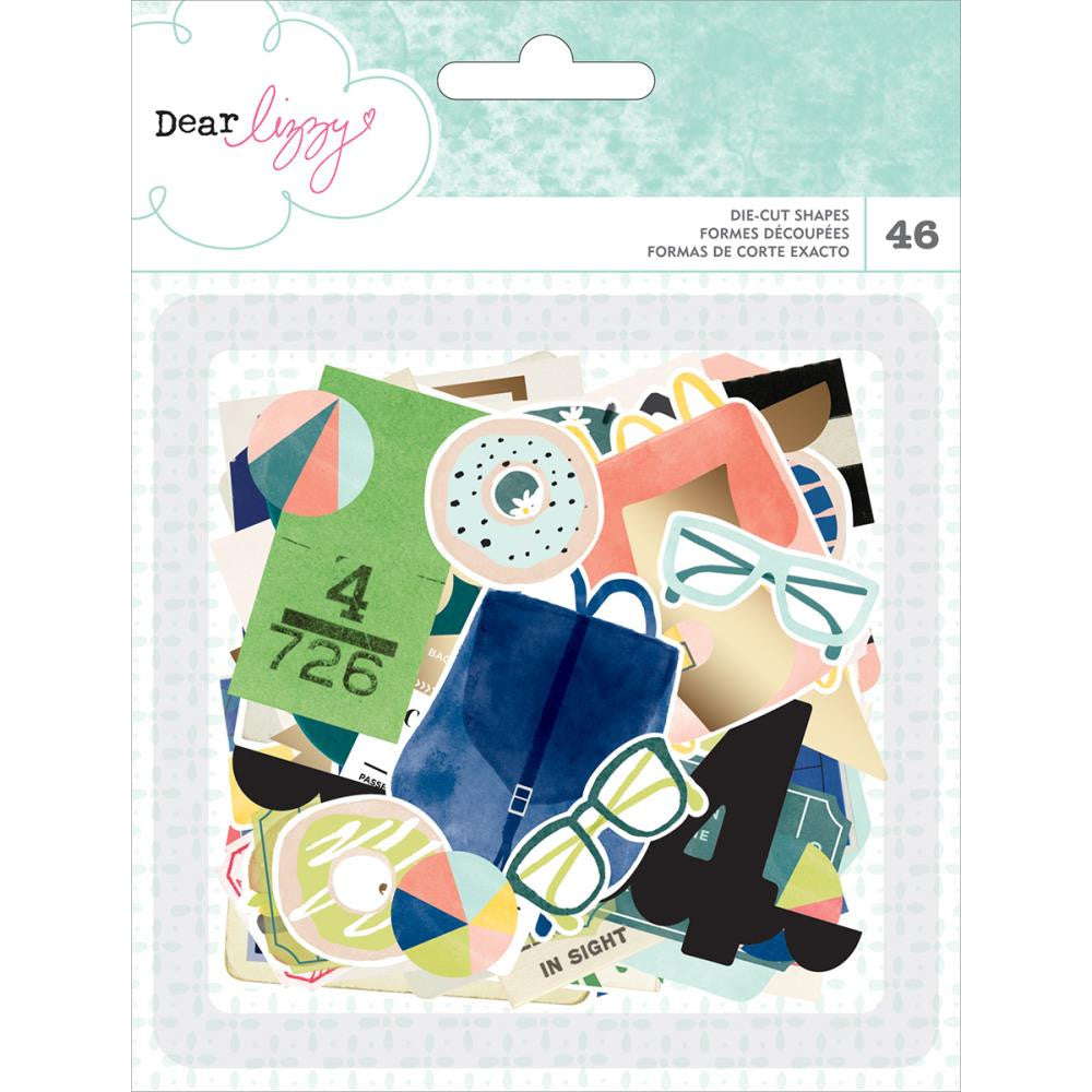 American Crafts Dear Lizzy Saturday Die Cut Shapes