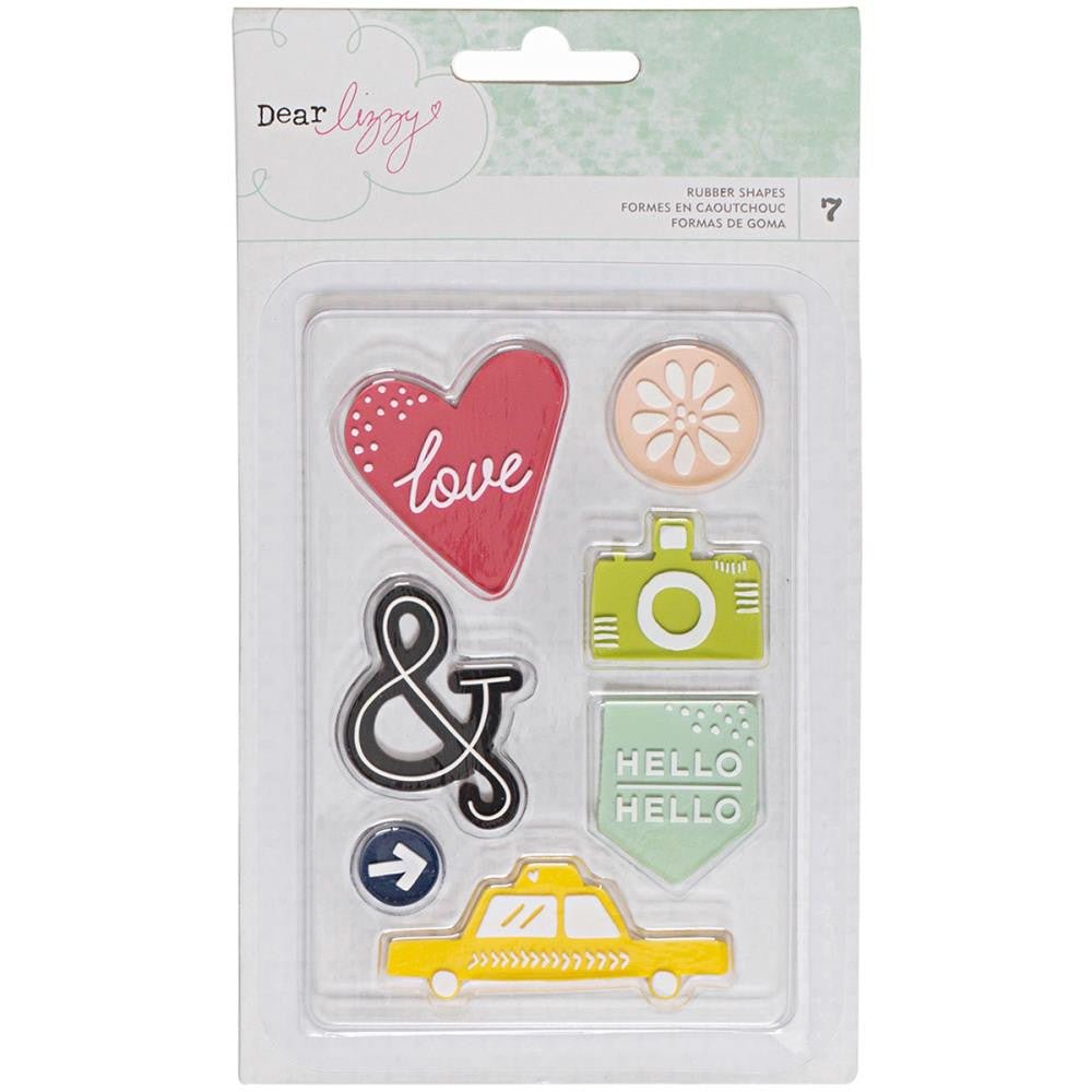 American Crafts Dear Lizzy Saturday Rubber Shapes - Scrap Of Your Life