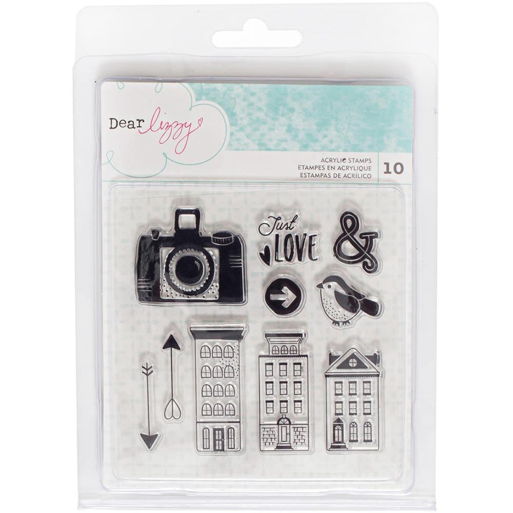 American Crafts - Dear Lizzy - Saturday Collection - Acrylic Stamp Set - Scrap Of Your Life