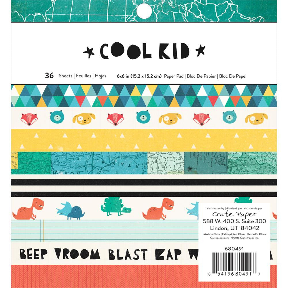 Crate Paper Cool Kid 6 x 6 Paper Pad - Scrap Of Your Life