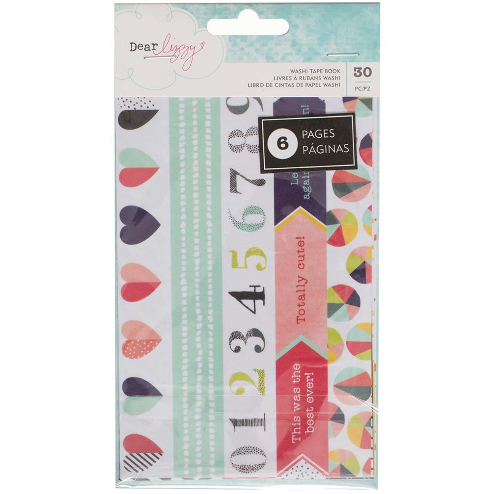 American Crafts - Dear Lizzy - Saturday Collection - Washi Tape 6-Page Book - - Scrap Of Your Life