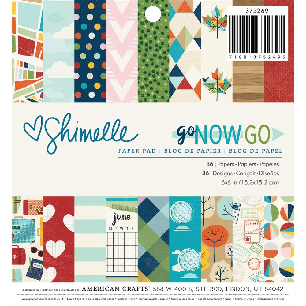 American Crafts Shimelle Go Now Go Paper Pad 6 x 6