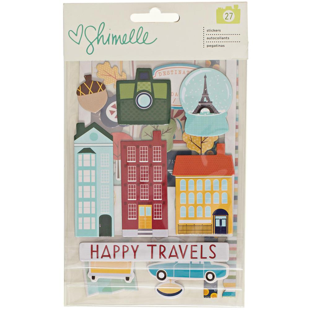 American Crafts Shimelle Go Now Go Stickers - Scrap Of Your Life