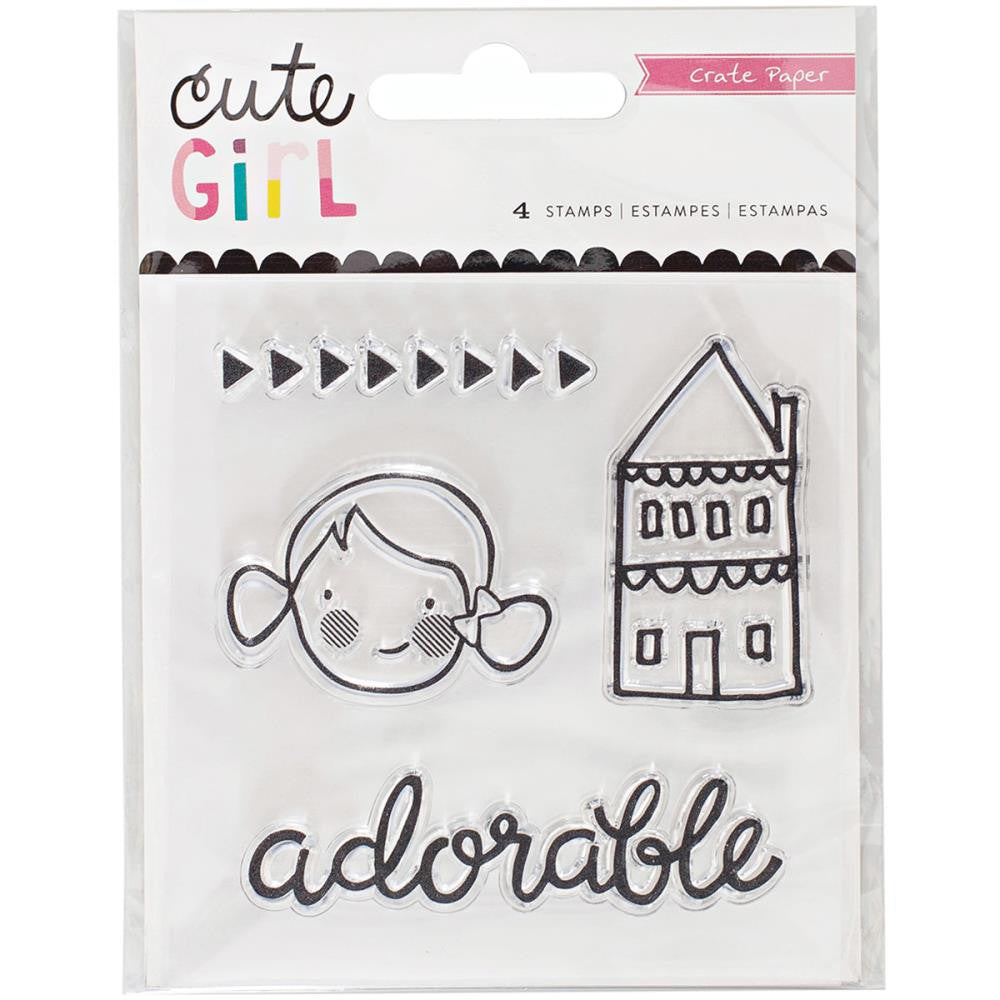 Crate Paper Cute Girl Mini Stamps