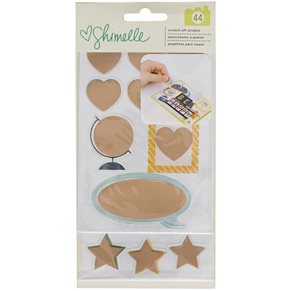 American Crafts Shimelle Go Now Go Scratch Off Stickers with Foil Accents  Clearance