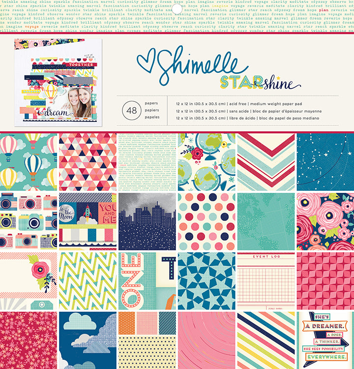 American Crafts Shimelle Starshine 12 x 12 Paper Pad - Scrap Of Your Life