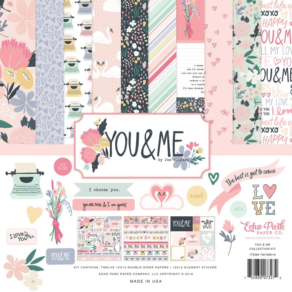 "Echo Park You & Me Collection Kit 21""x12"" - Scrap Of Your Life"