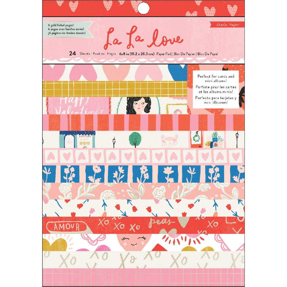 "Pre-order Crate Paper Single-Sided Card Making Pad 6""X8"" - Scrap Of Your Life"