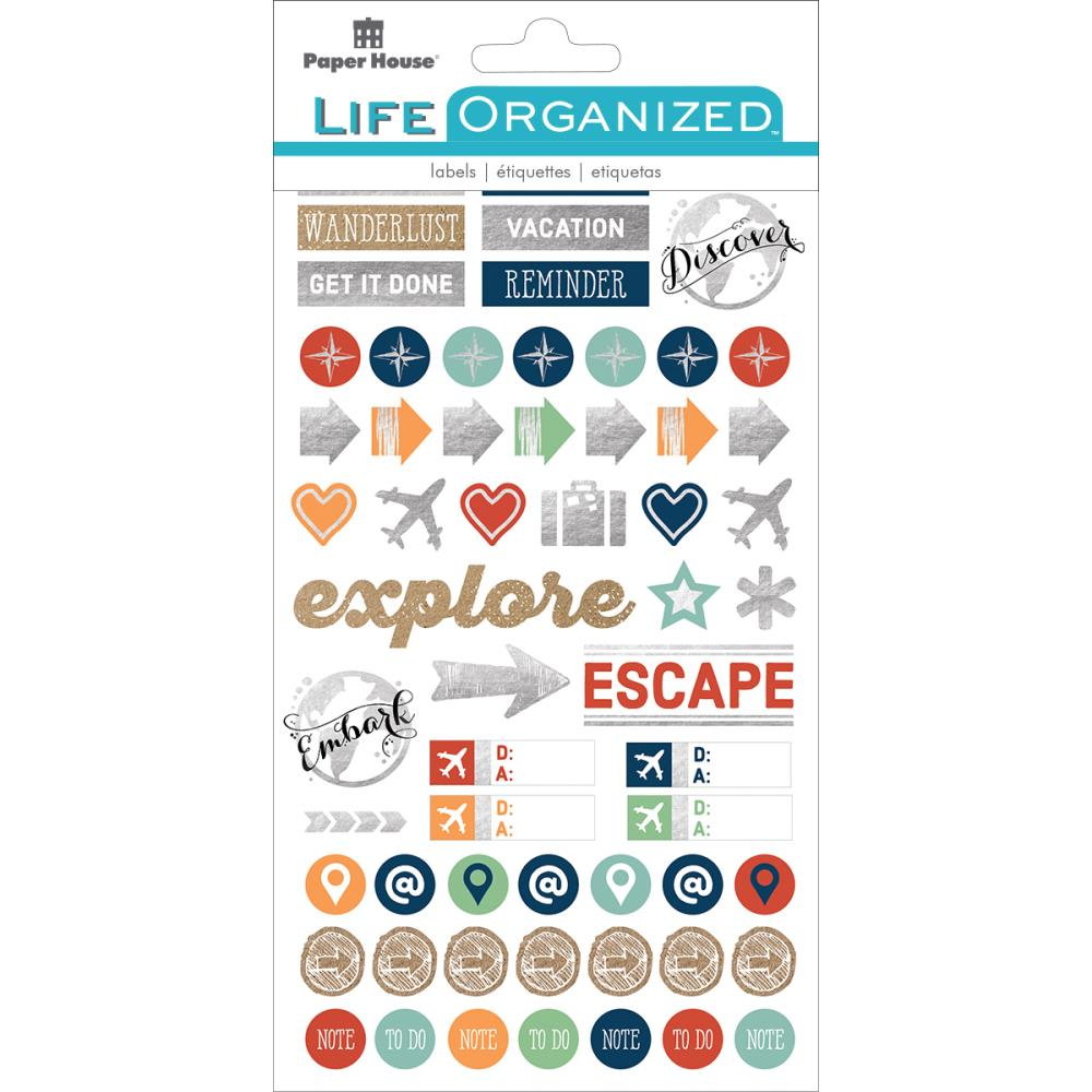 Paper House Paper Planner Stickers Travel - Scrap Of Your Life