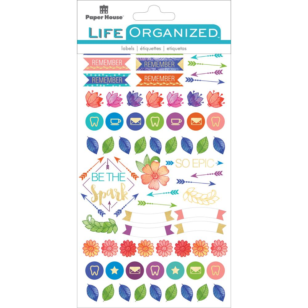 Paper House Life Organised Planner Stickers Live Bold - Scrap Of Your Life