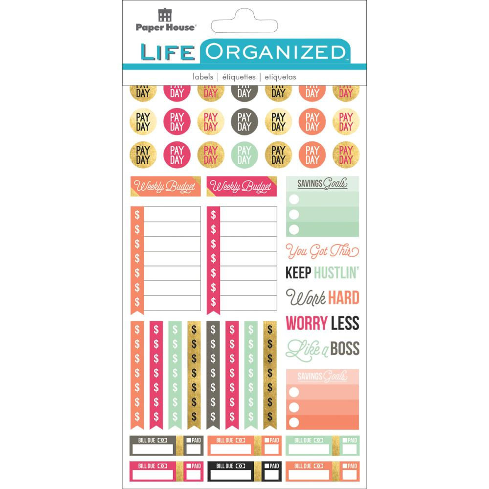 Paper House Life Organised Planner Stickers Free Spirit