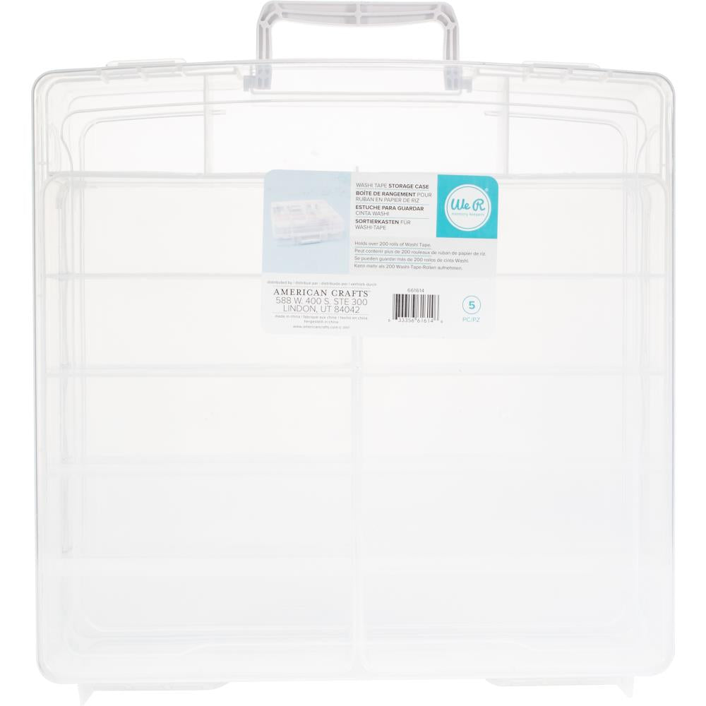 We R Memory Keepers Washi Translucent Plastic Storage Bin