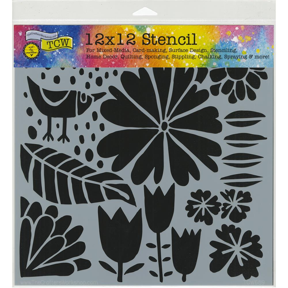 The Crafters Workshop Stencil 12 x 12 Dutch Spring - Scrap Of Your Life