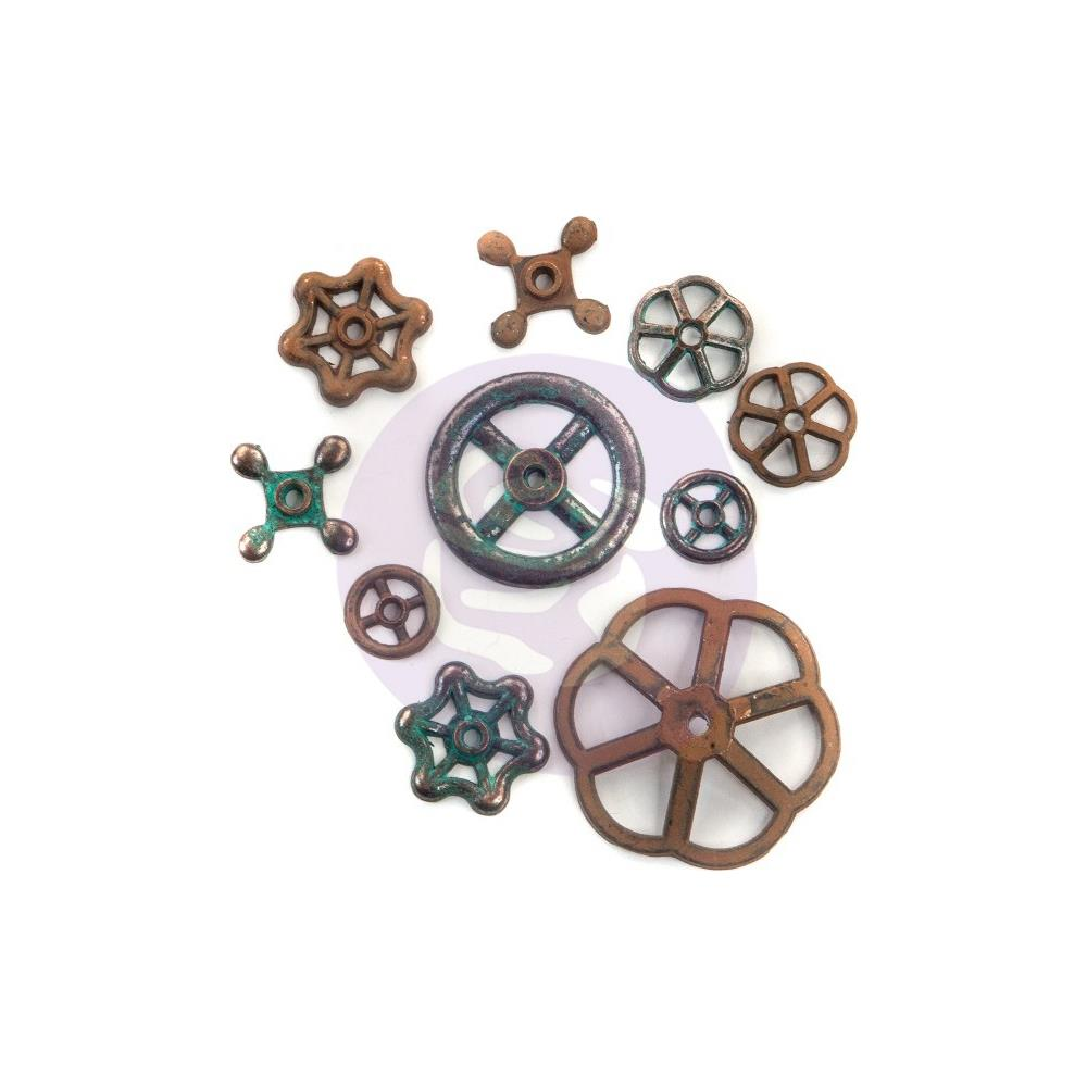Finnabair Mechanicals Metal Embellishments Rusty Knobs - Scrap Of Your Life