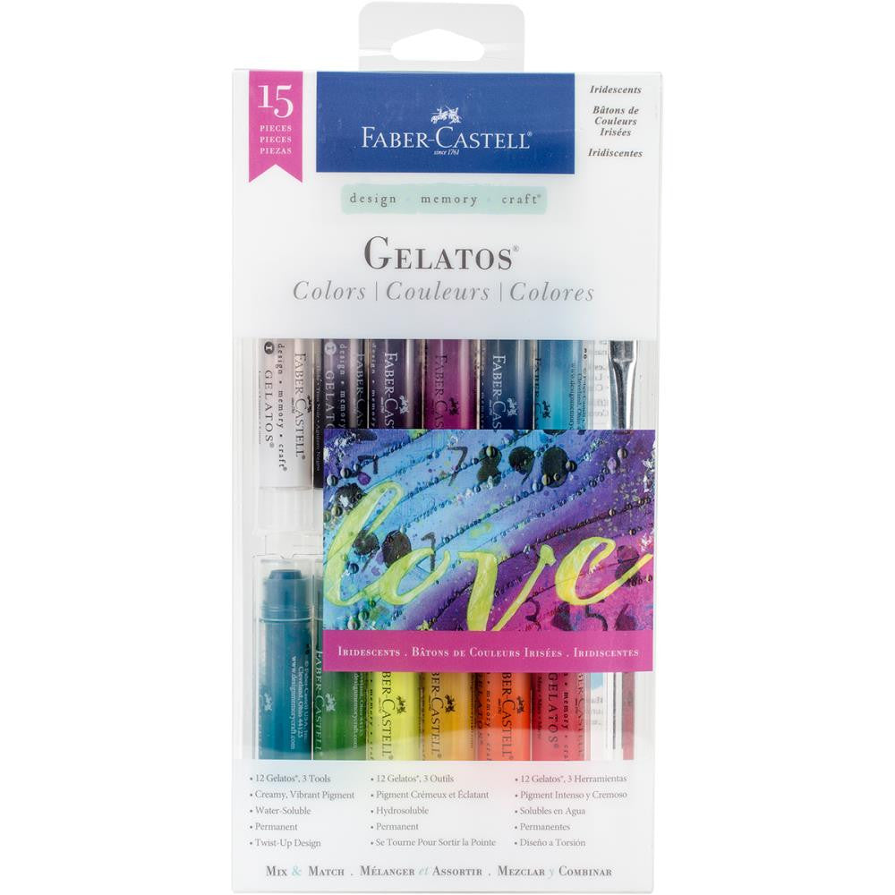 Faber Castell Gelatos Colors Kit Iridescents - Scrap Of Your Life