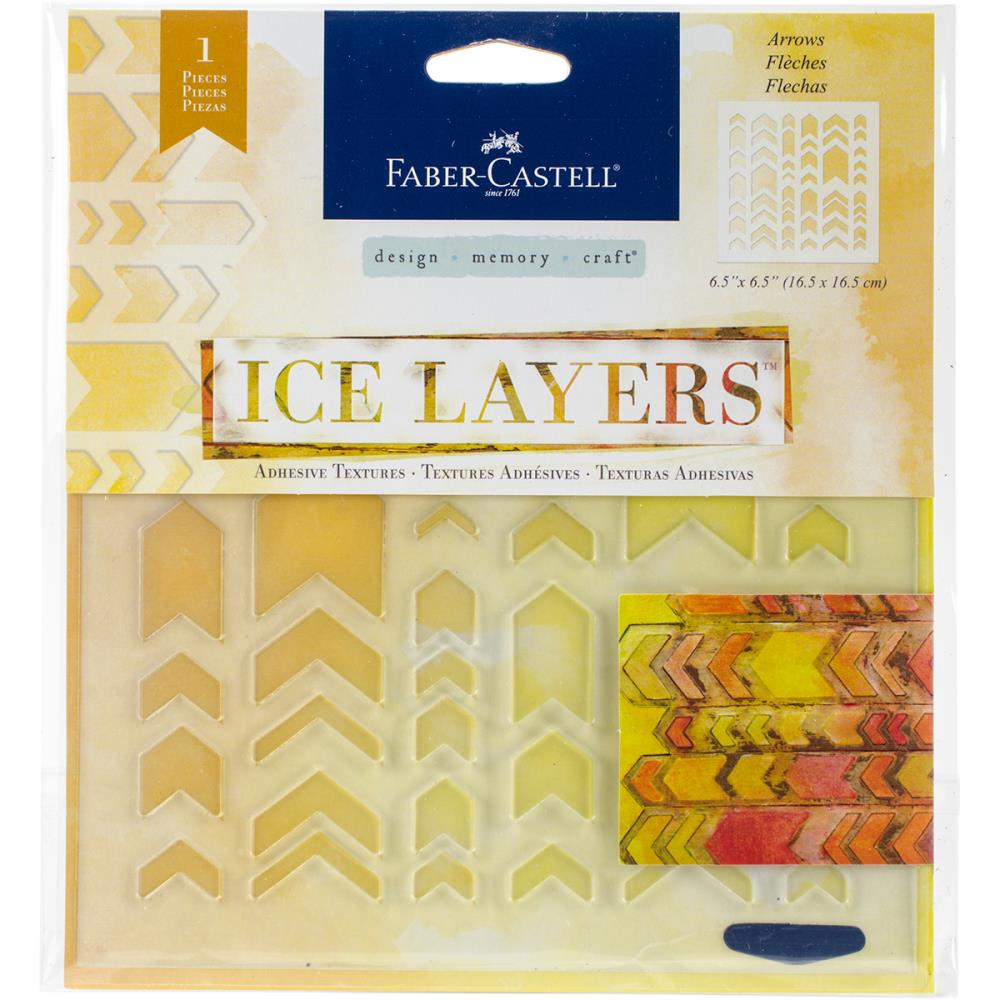 Faber Castell Ice Layers Stencil Arrows - Scrap Of Your Life