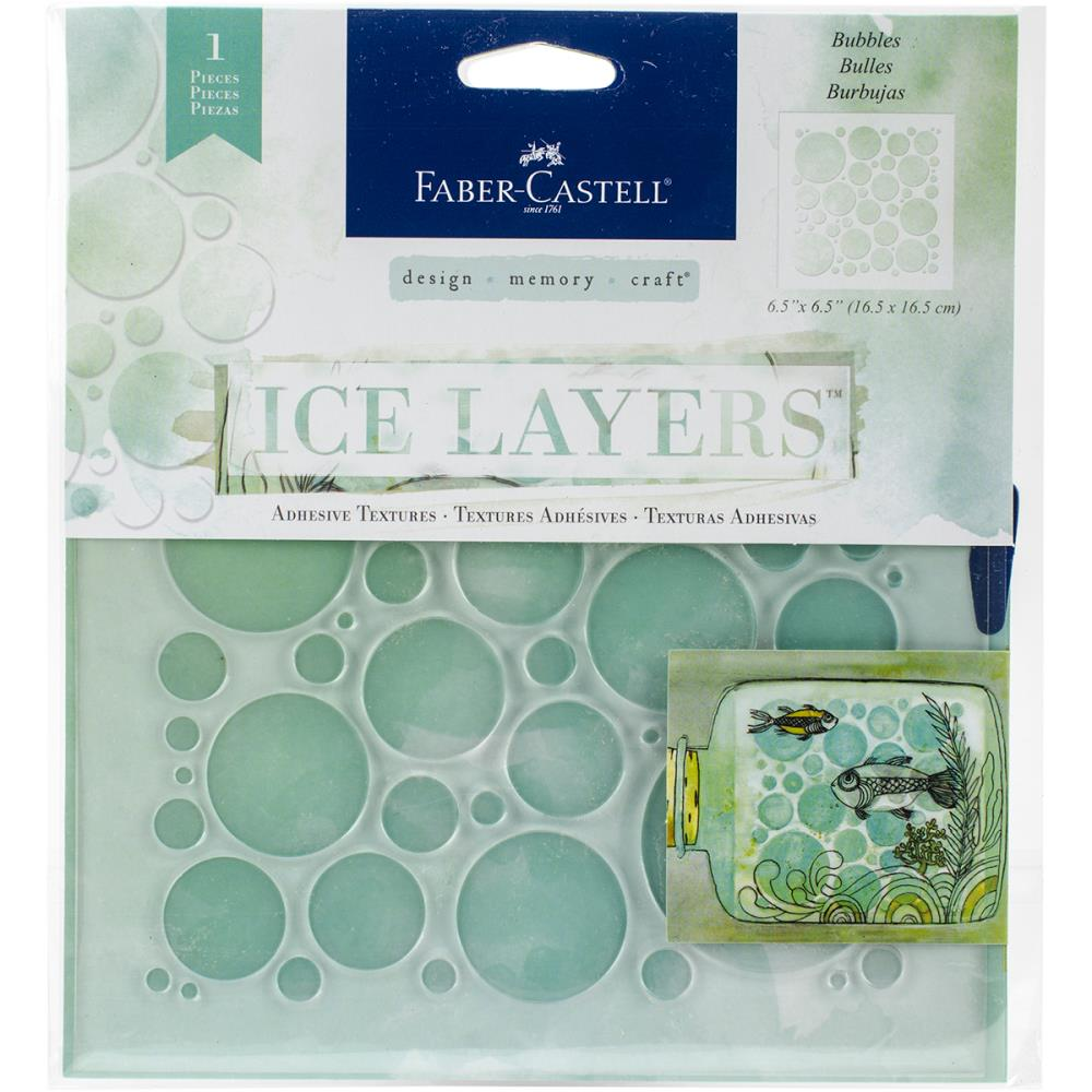 Faber Castell Ice Layers Stencil Bubbles - Scrap Of Your Life