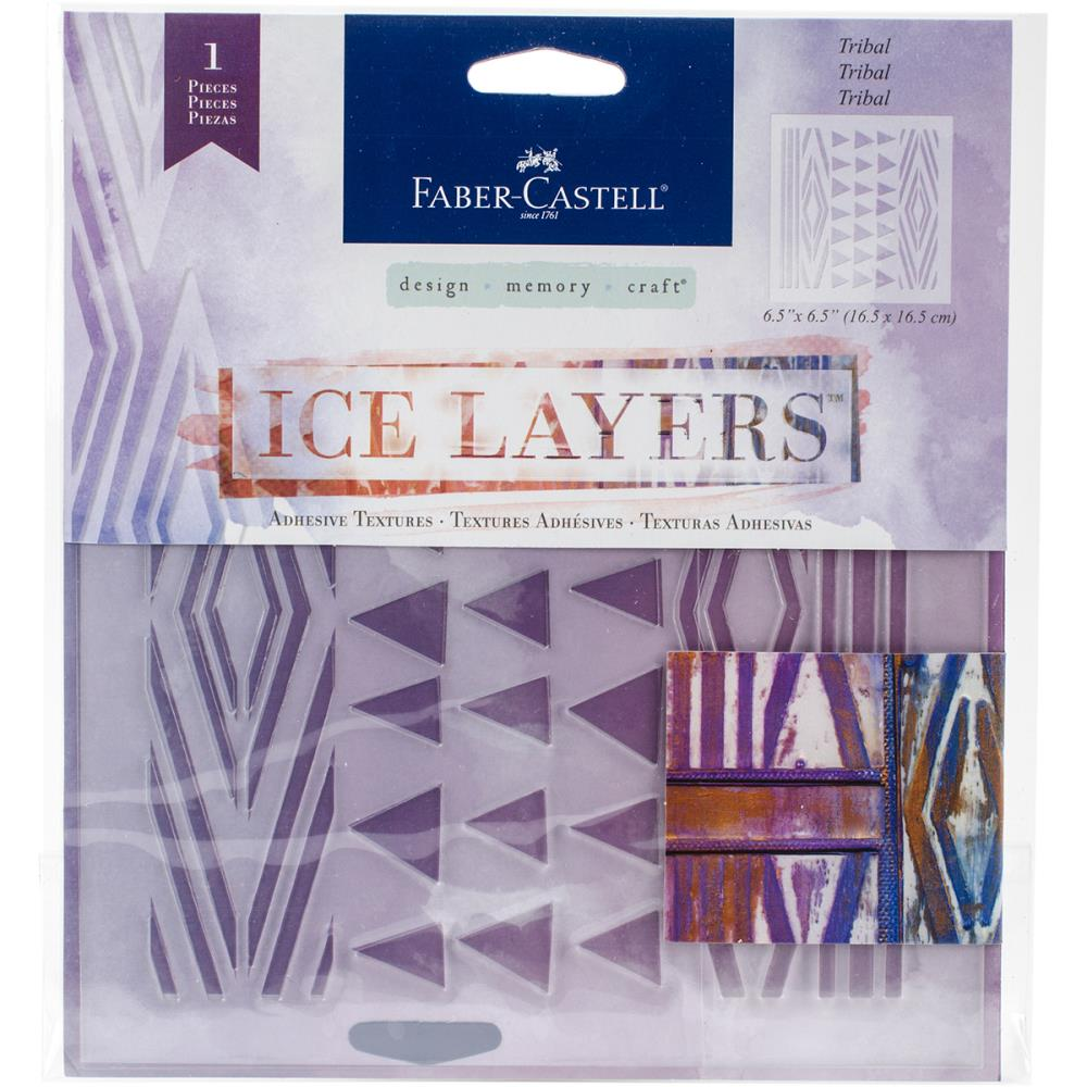 Faber Castell Ice Layers Stencil Tribal - Scrap Of Your Life