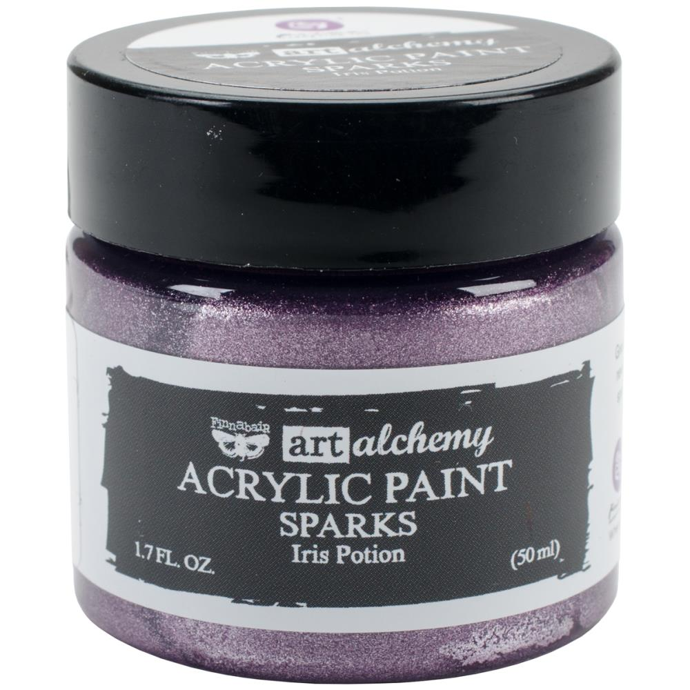Finnabair Art Alchemy Sparks Acrylic Paint Iris Potion - Scrap Of Your Life