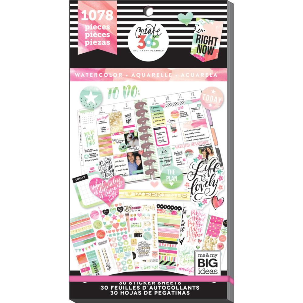 Me and My Big Ideas Create 365 Planner Stickers Watercolour
