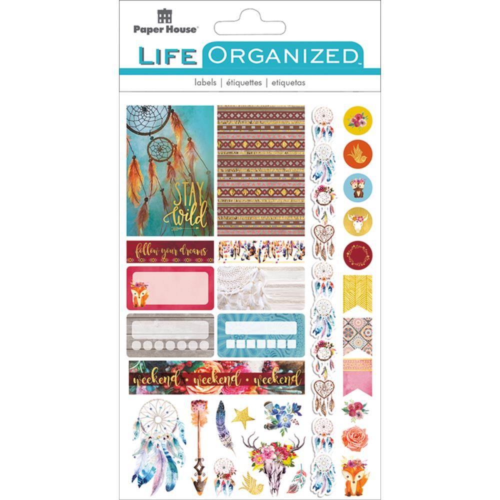 Paper House Life Organized Planner Stickers Free Spirit