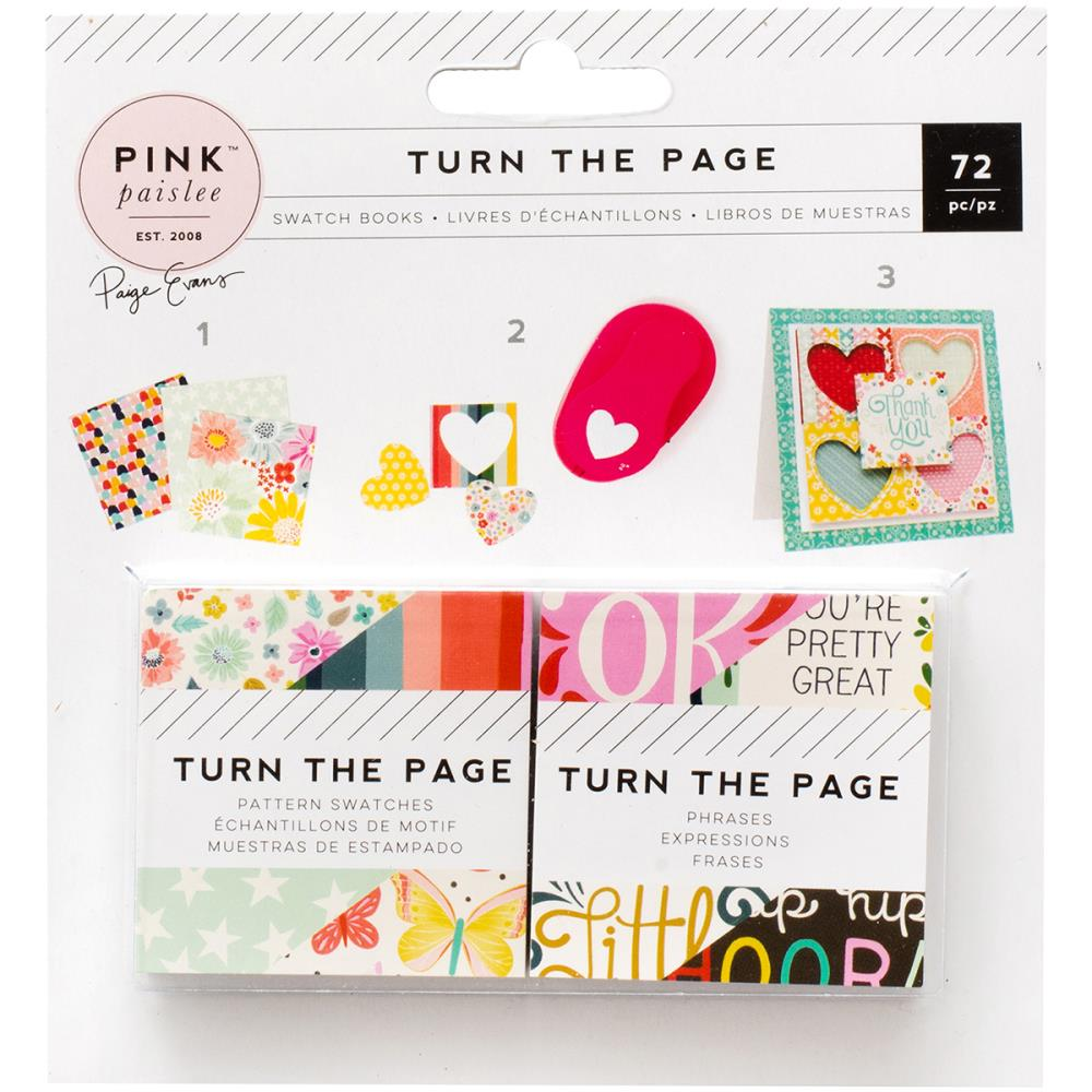 Pink Paislee Turn The Page Mini Swatch Books - Scrap Of Your Life