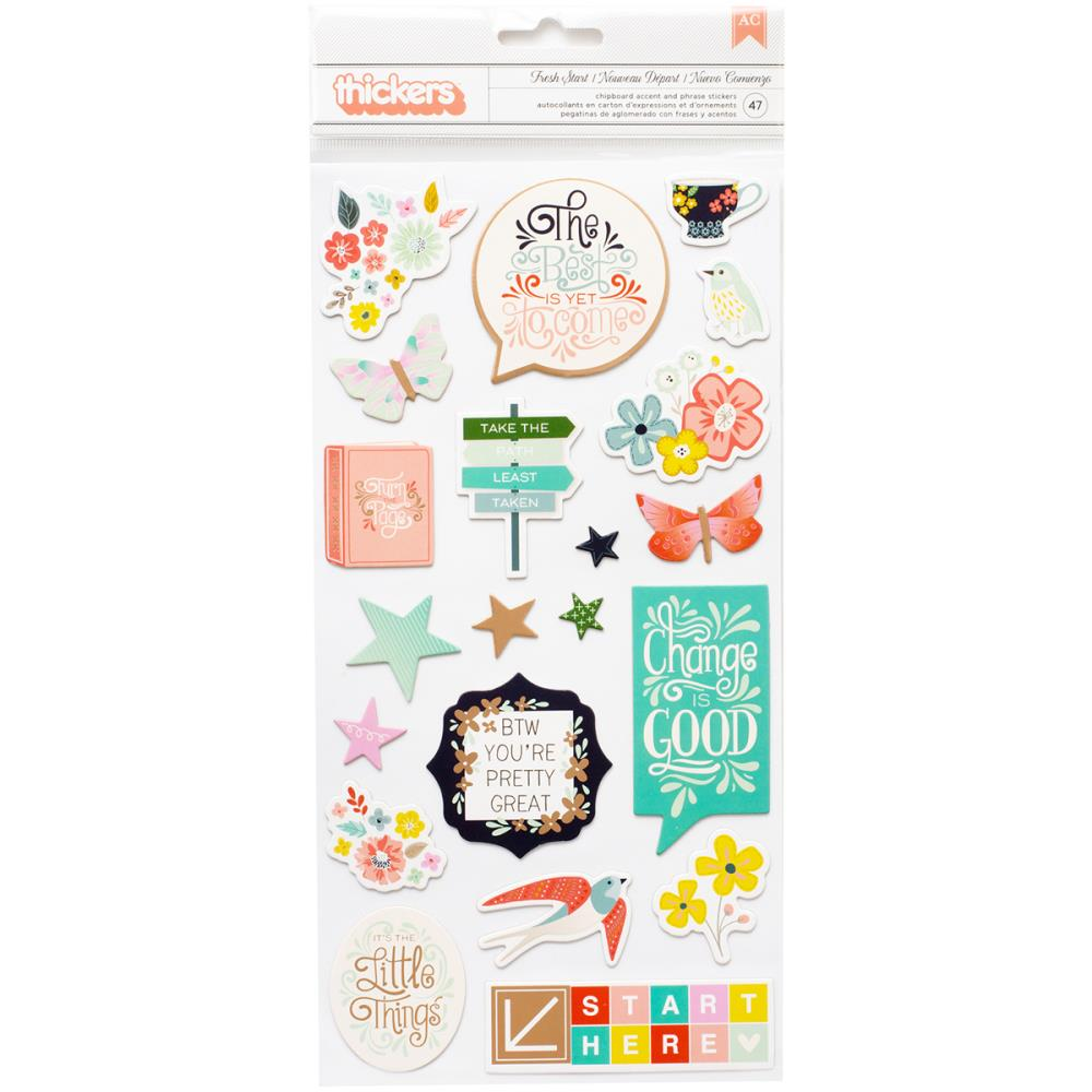 Pink Paislee Turn The Page Thickers Stickers
