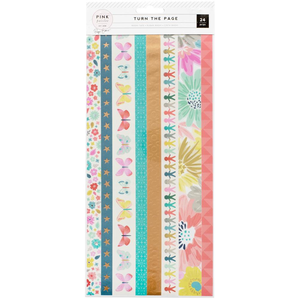 Pink Paislee Turn The Page Washi Tape