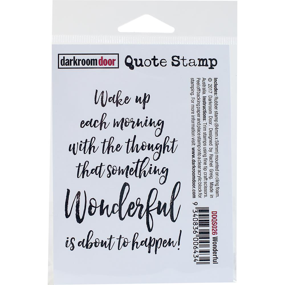 Darkroom Door Quote Cling Stamp Wonderful - Scrap Of Your Life