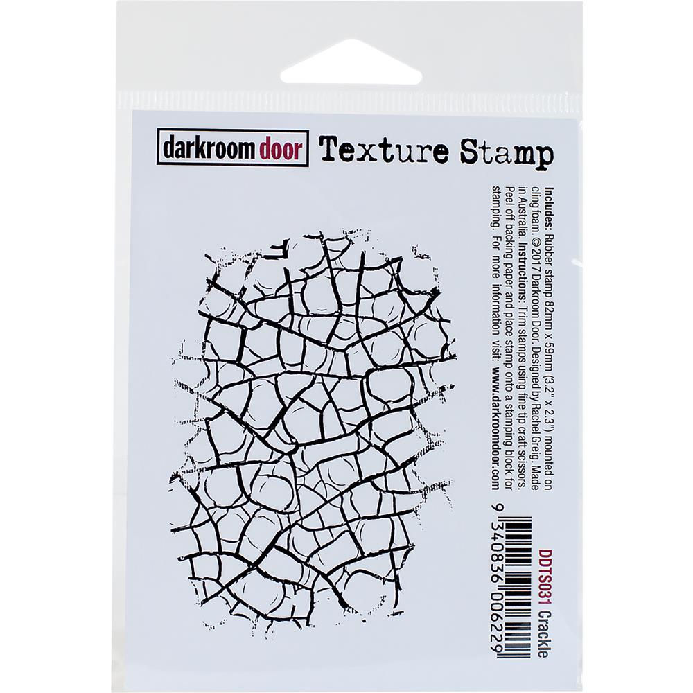 Darkroom Door Texture Cling Stamp Crackle - Scrap Of Your Life