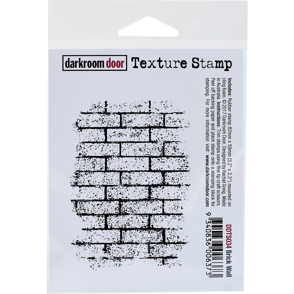 Darkroom Door Texture Cling Stamp Brick Wall