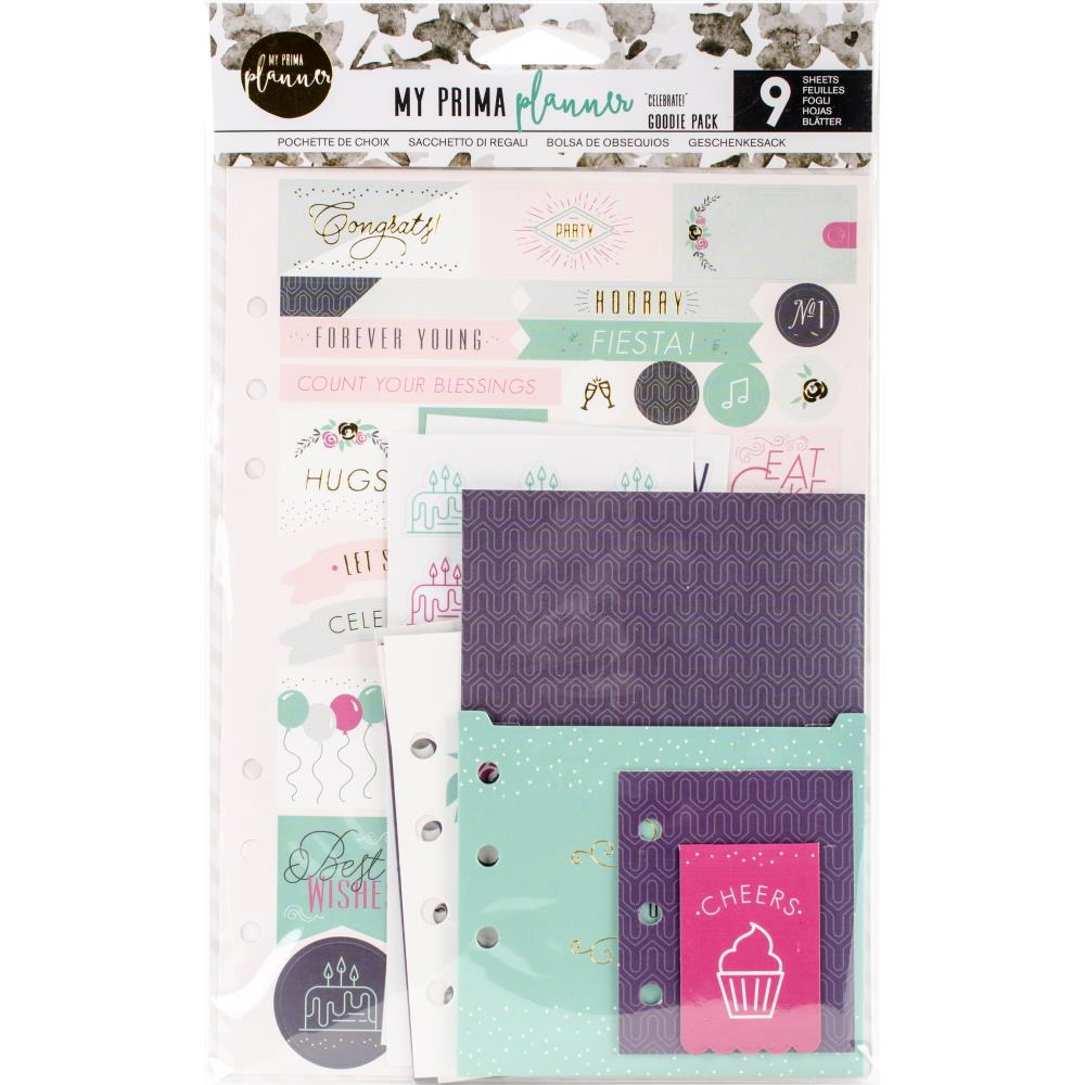 My Prima Planner Goodie Pack Planner Accessories, Celebrate, Planner and Scrapbooking